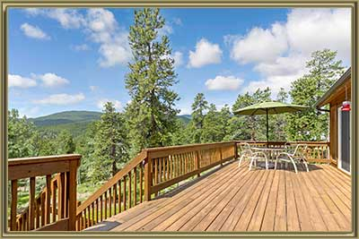 455 Highlands Dr Bailey CO Deck Views