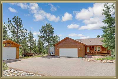 Home For Sale with Snowcapped Views in Bailey CO