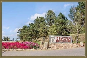 Hiwan Sub-Areas in Evergreen CO