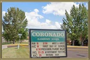 Homes Near Coronado Public Elementary School
