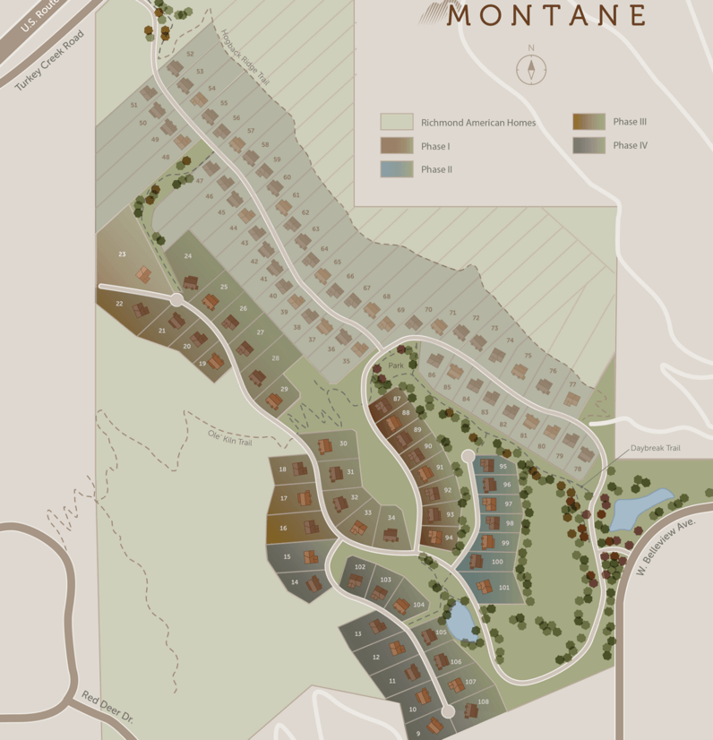 Montane Subdivision Layout