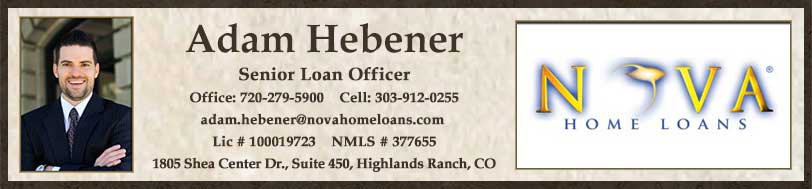 Adam Hebener with Nova Home Loans
