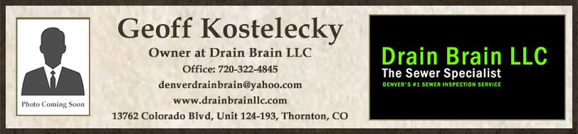 Geoff Kostelecky with Drain Brain LLC