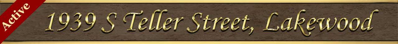 Active Status for 1939 South Teller Street